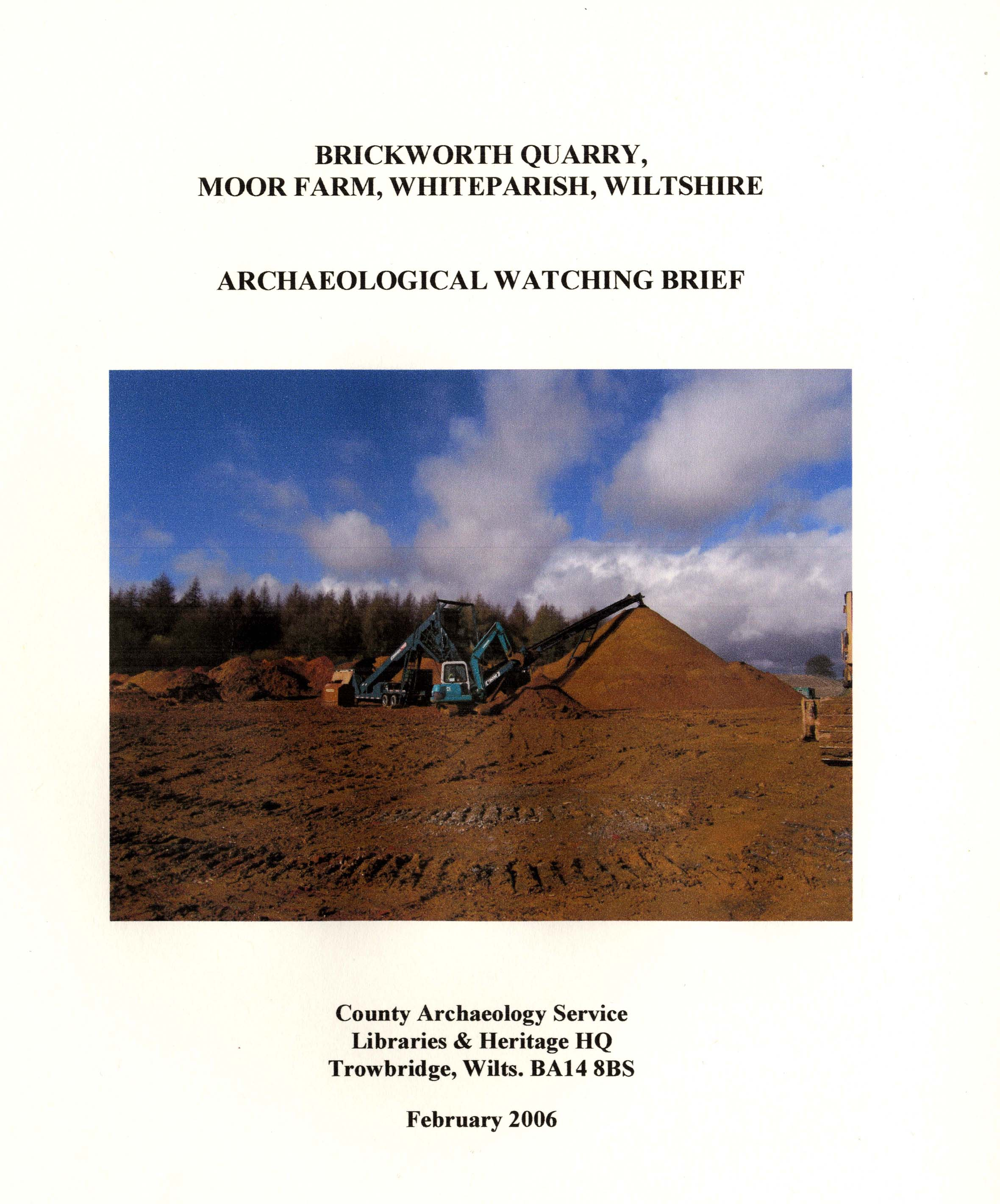 Front page of report