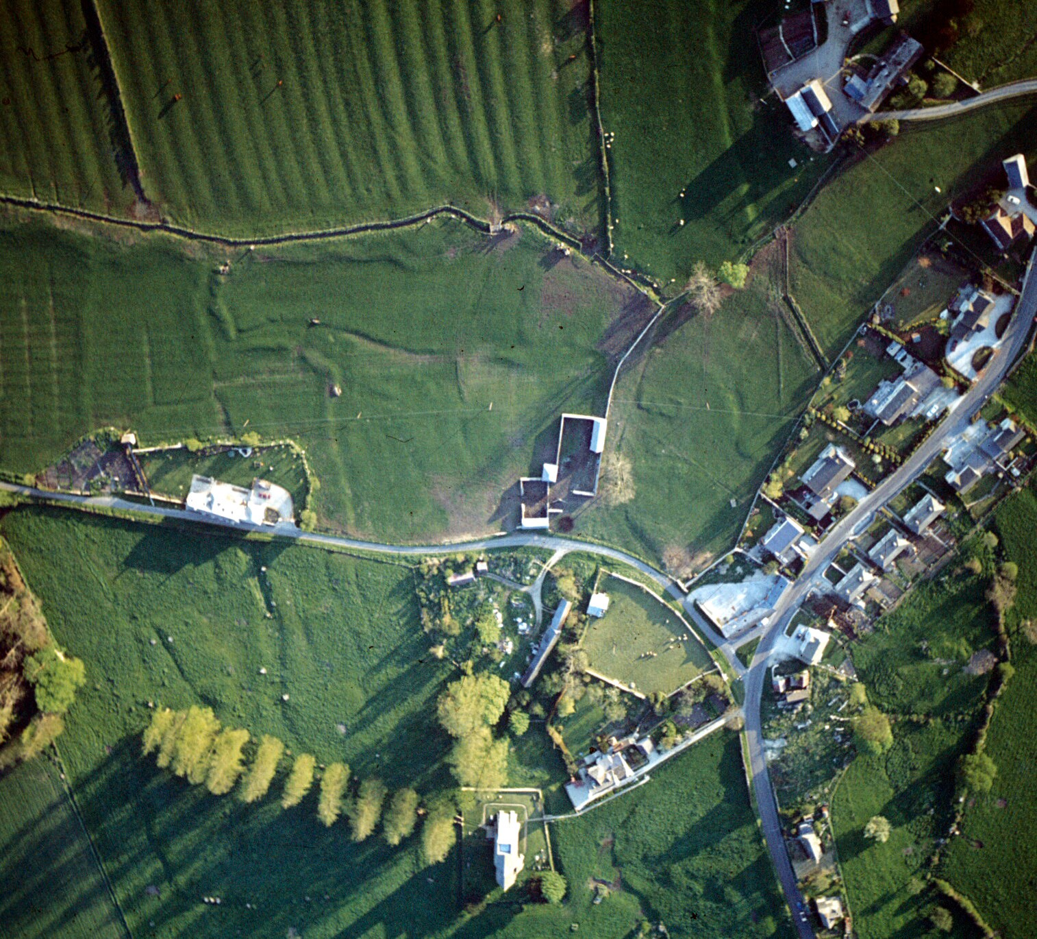 Aerial Photograph of a Medieval Settlement