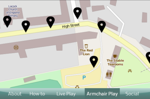 Lacock Map used in the App