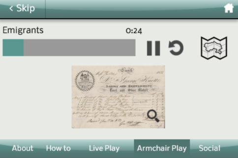 An image of the app in use