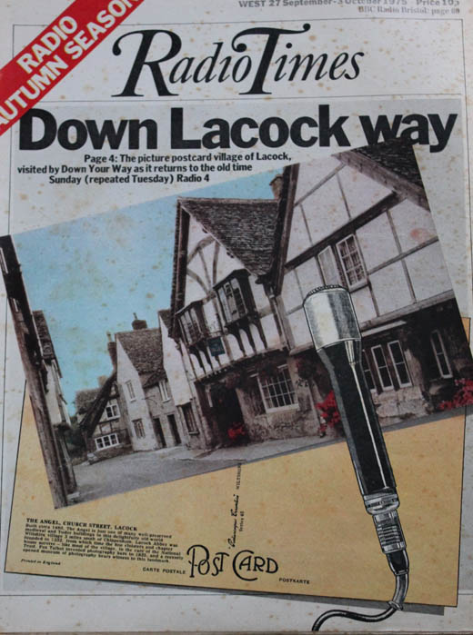 Down Lacock Way Radio Times 1975