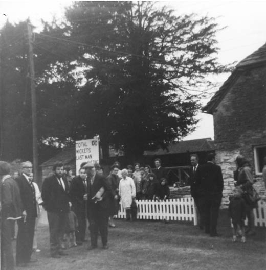 Opening of new cricket pavillion 1971