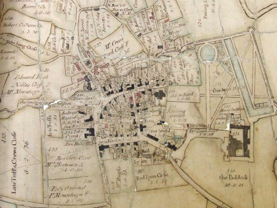 2664 - 1764 map of Lacock - close-up 3