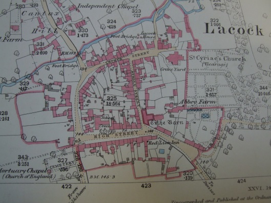 OS map of Lacock 1886