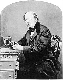 William Henry Fox Talbot with camera obscura